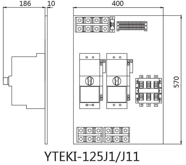 yteki-d双速,三速电动机控制器