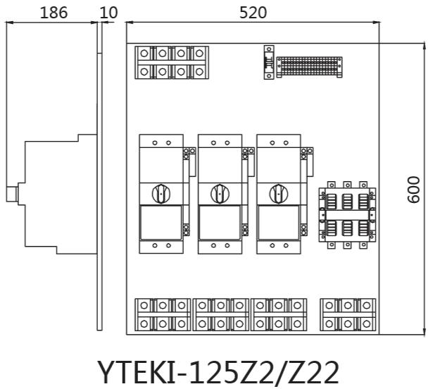 电动机通过自耦变压器减压启动;当yteki-1自带的延时功能延时完毕后